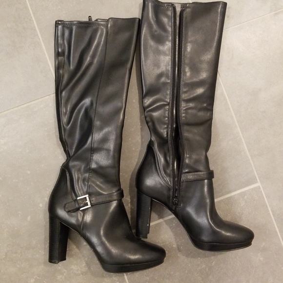 2fbf8ddc183 Nine West Shoes | High Rise Black Boots | Poshmark